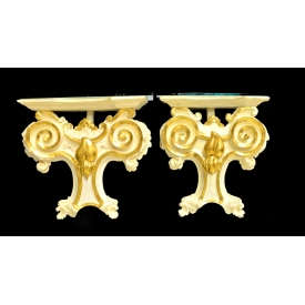(2)FRENCH LOUIS XV STYLE WALL BRACKETS
