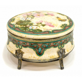 JEAN PAUL MILET GILT FOIL ENAMELED BUTTERFLY BOX
