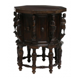 ANTIQUE FRENCH FIGURAL CARVED OCCASIONAL TABLE