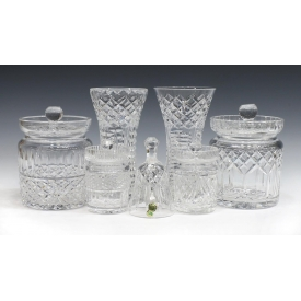 (7) WATERFORD CRYSTAL LISMORE & MAEVE TABLE ITEMS