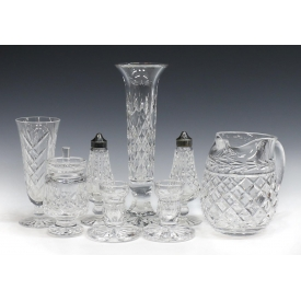 (8) WATERFORD CUT CRYSTAL TABLE ITEMS