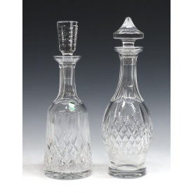 (2) WATERFORD CUT CRYSTAL LISMORE DECANTERS