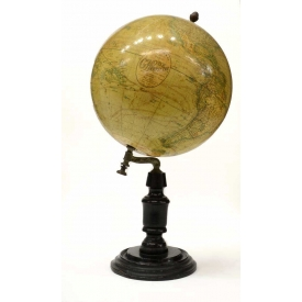 FRENCH GLOBE TERRESTRE ON STAND, J LEBEGUE & CIE