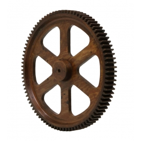 VINTAGE CIRCULAR WOOD GEAR WHEEL, LEANDER, TEXAS