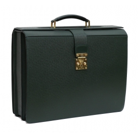 LOUIS VUITTON GREEN TAIGA LEATHER BRIEFCASE