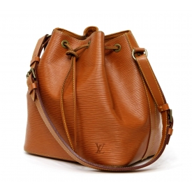 LOUIS VUITTON NOE PM BROWN EPI LEATHER BUCKET BAG