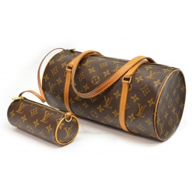 (2) LOUIS VUITTON PAPILLION & MINI MONOGRAM PURSES