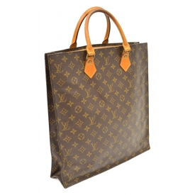 LOUIS VUITTON MONOGRAM SAC PLAT TOTE SHOPPING BAG