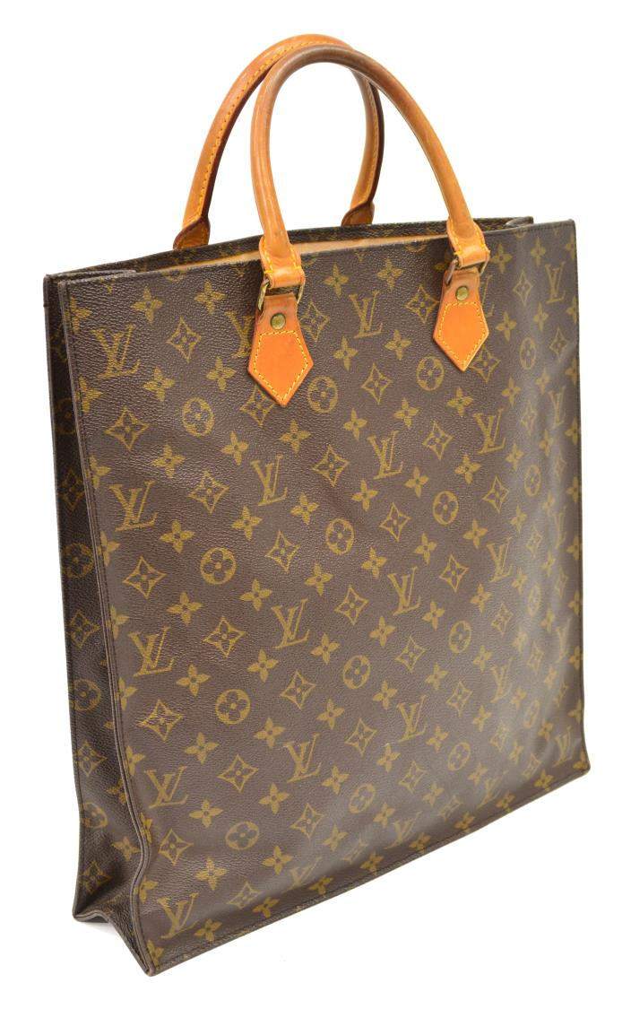 Louis vuitton monogram sac plat tote shopping bag for Louis vuitton monogram miroir sac plat