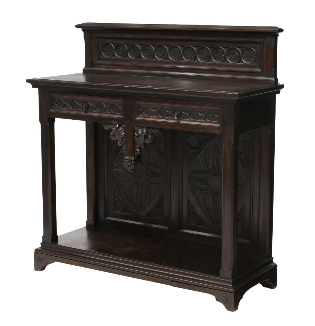 french gothic style server special italian mid century design antiques estates auction day. Black Bedroom Furniture Sets. Home Design Ideas