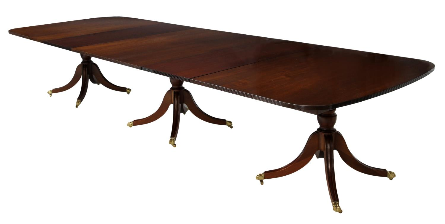 HENREDON MAHOGANY PEDESTAL DINING TABLE 140quotL SPECIAL  : 764 from www.austinauction.com size 1500 x 756 jpeg 52kB