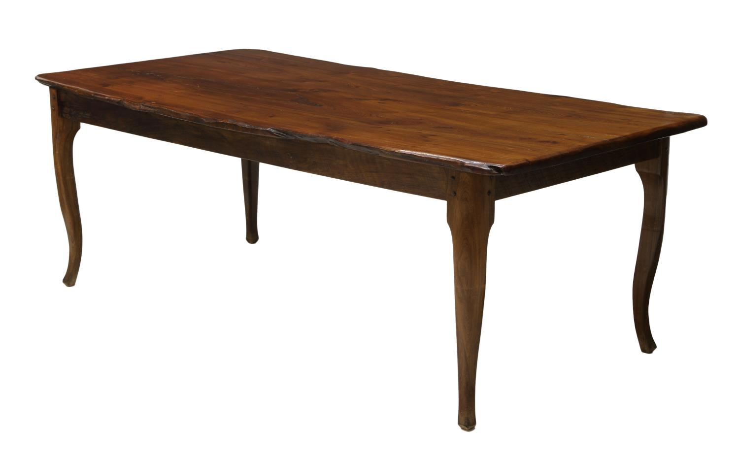 RUSTIC PINE PLANK TOP DINING TABLE SPECIAL ITALIAN MID  : 997 from www.austinauction.com size 1500 x 930 jpeg 56kB