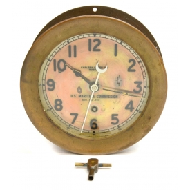 CHELSEA BRASS CASED MARIINE CLOCK