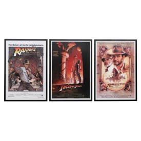 (3) FRAMED INDIANA JONES MOVIE POSTERS