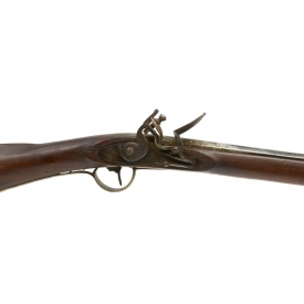 FULL WALNUT STOCK FLINTLOCK RIFLE