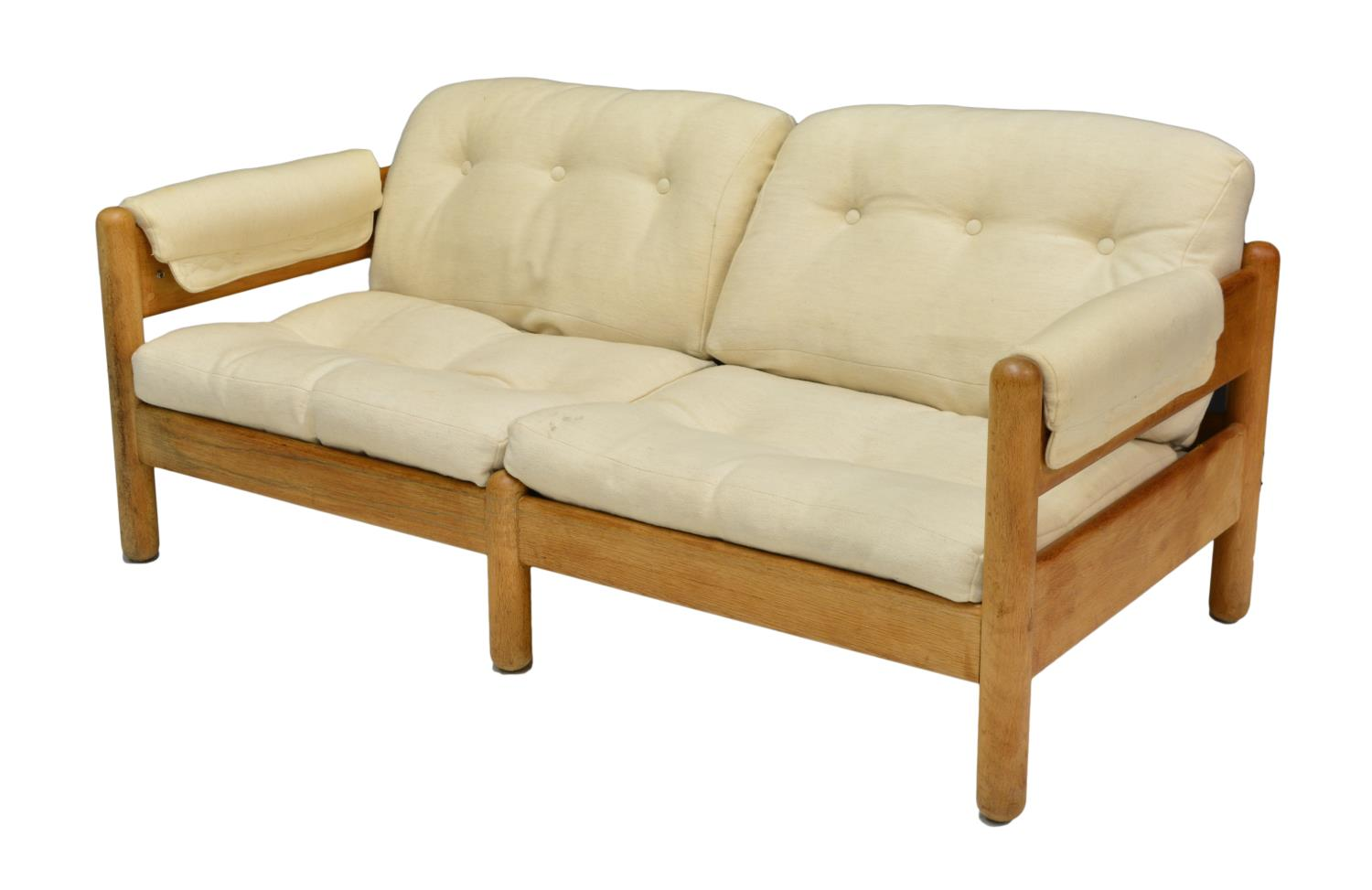 Danish Mid Century Modern Oak Frame Loveseat June Mid Century Design Antiques Estates