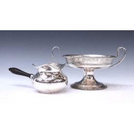 (2) AMERICAN STERLING COMPOTE & HANDLED SAUCE BOWL