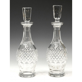 (2) WATERFORD CUT CRYSTAL COLLEEN WINE DECANTERS