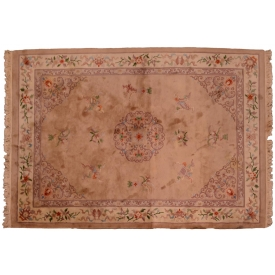 "CHINESE SCULPTURED HAND WOVEN RUG, 11'3"" x 8'"