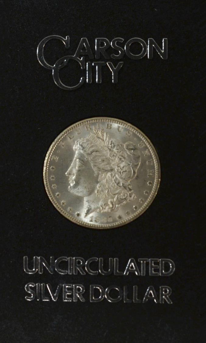 1884 Uncirculated Carson City Silver Dollar August