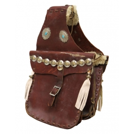 CONCHO DECORATED WESTERN SADDLEBAGS