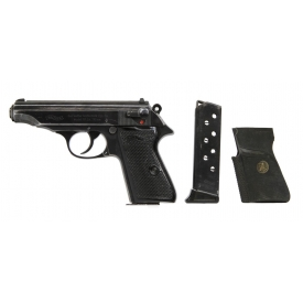 NAZI WALTHER PP 7.65MM PISTOL, ORIGINAL BOX