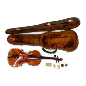 GERMAN VIOLIN & CASE, MONTAGNANA TAG