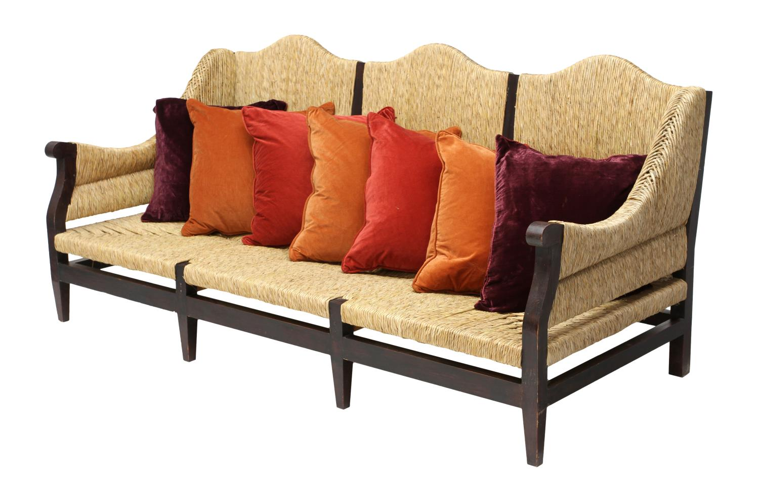 large rush sofa or day bed mexico august estates. Black Bedroom Furniture Sets. Home Design Ideas