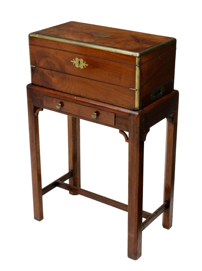Fine English Lap Travel Desk On Stand The Howard Hand