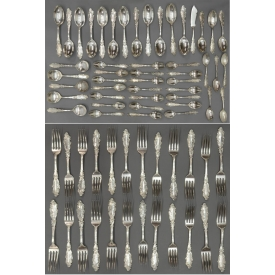 (45) GORHAM LUXEMBOURG STERLING FLATWARE SET