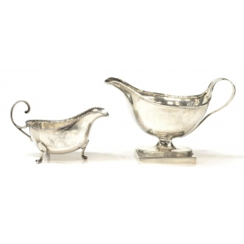 (2) ENGLISH STERLING SILVER SAUCEBOATS