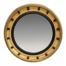 AMERICAN FEDERAL STYLE ROUND GILT FRAME MIRROR