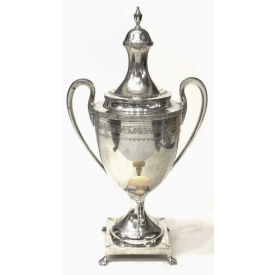 LARGE STERLING 'PAUL REVERE' HOT WATER URN