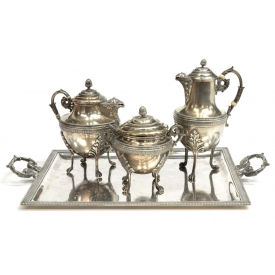 (4) FRENCH EXPORT DIMINUTIVE 950 SILVER SERVICE