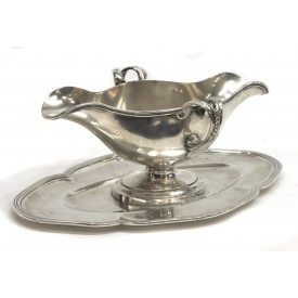 BELGIAN CONTINENTAL 800 SILVER SAUCE BOAT