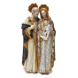 LARGE EUGENIO PATTARINO HOLY FAMILY WALL PLAQUE