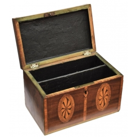 SHERATON PERIOD PATERAE INLAID & BANDED TABLE BOX