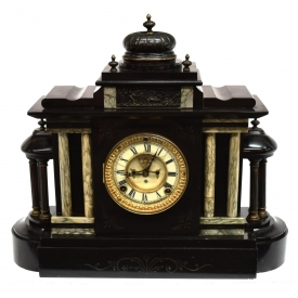 ANSONIA MARBLE ARCHITECTURAL MANTLE CLOCK