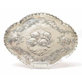 WILLIAM J. HOLMES & CO. STERLING CHERUB TRAY