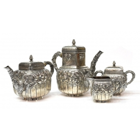 (4) FINE GORHAM STERLING 1883 COFFEE / TEA SERVICE