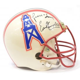 EARL CAMPBELL AUTOGRAPHED OILERS HELMET