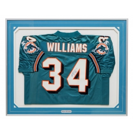RICKY WILLIAMS MIAMI DOLPHINS AUTOGRAPHED JERSEY