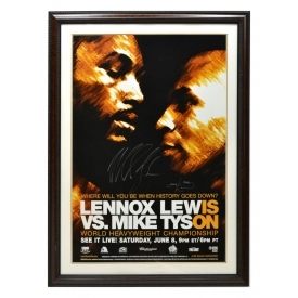MIKE TYSON & LENNOX AUTOGRAPHED FIGHT POSTER