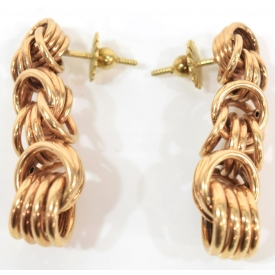 LADIES 14KT YELLOW GOLD CHAIN DROP EARRINGS