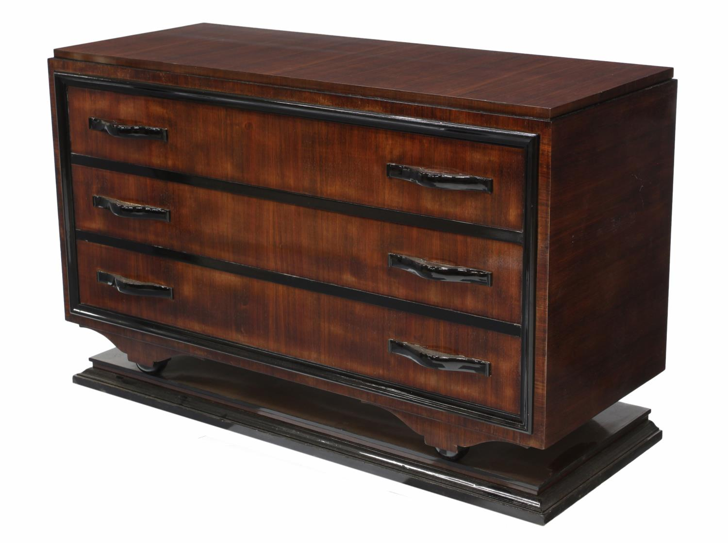 italian art deco mahogany commode 1930 39 s spectacular. Black Bedroom Furniture Sets. Home Design Ideas