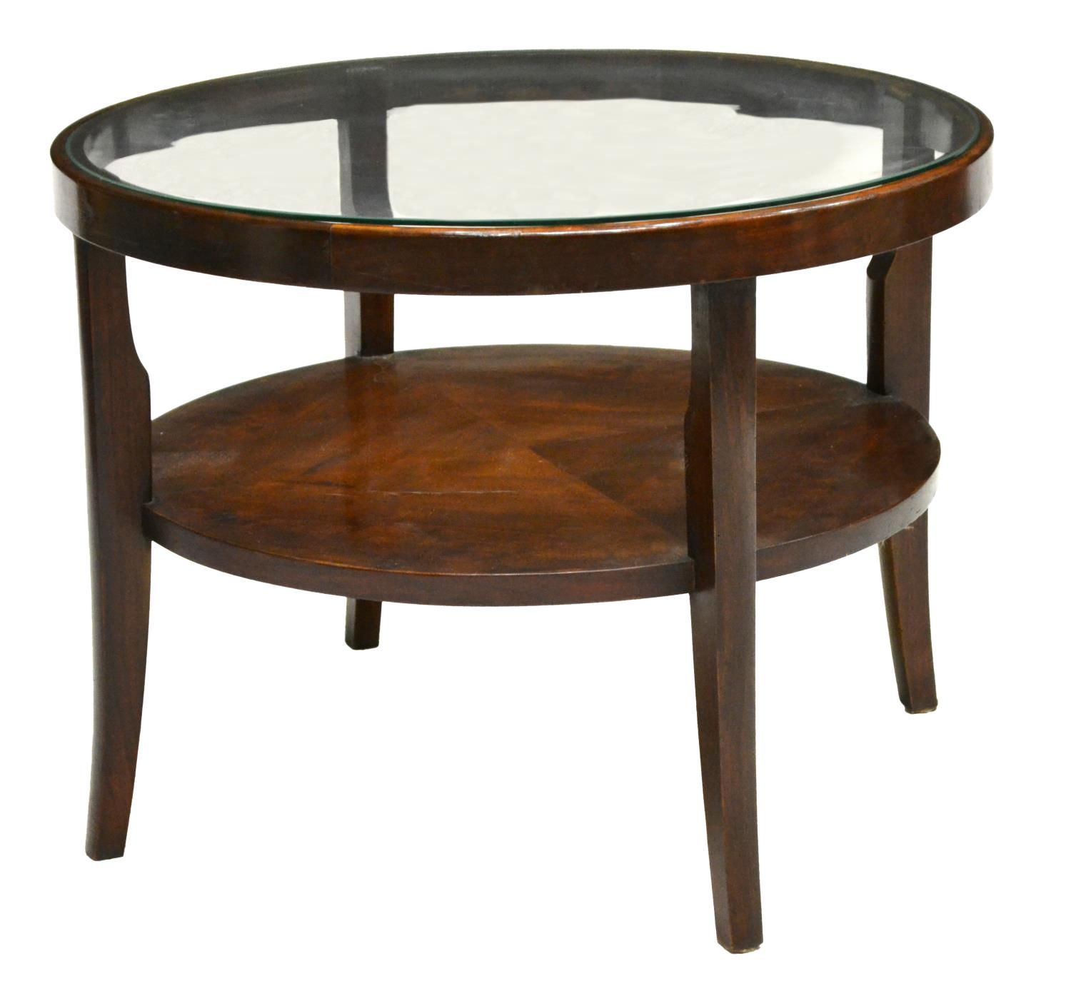 Italian Art Deco Glass Top Coffee Table C 1930s Spectacular Carved Furniture And Estates