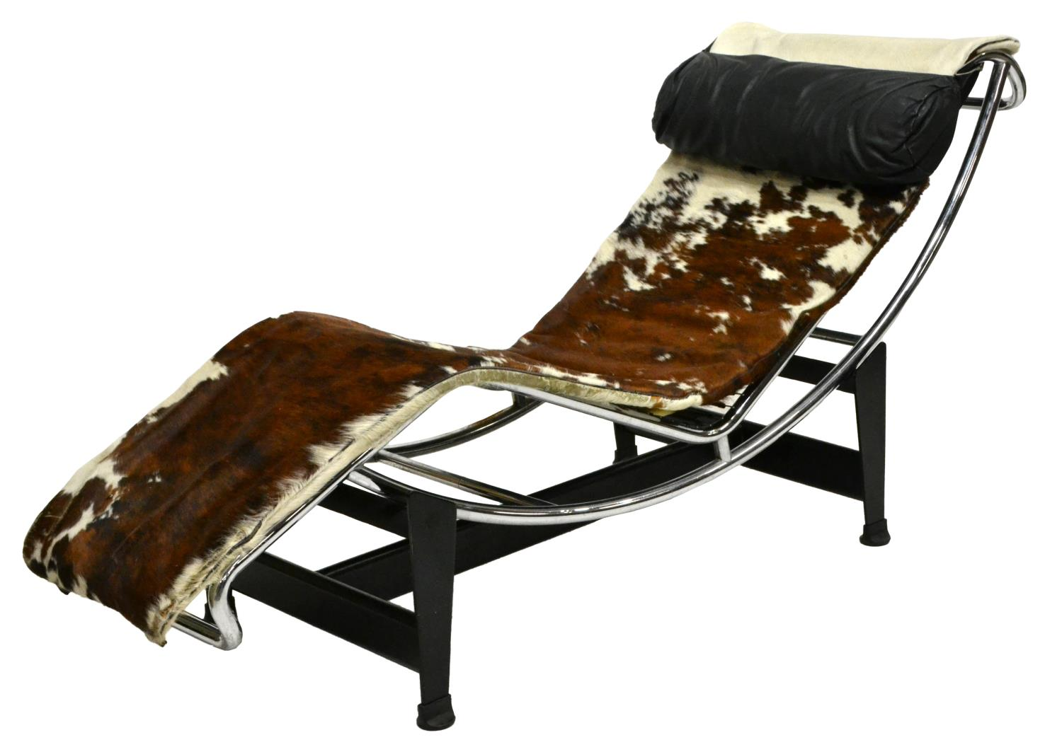 Signed Le Corbusier Chaise Lounge Lc4 Cowhide