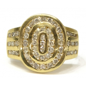 LADIES 14KT GOLD & DIAMOND ESTATE RING