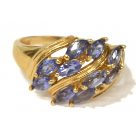 LADIES ESTATE 14KT GOLD & TANZANITE RING