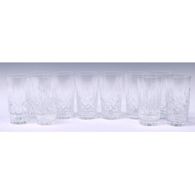 (10) WATERFORD LISMORE CUT HIGHBALL GLASSES